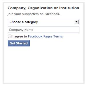 company create a page