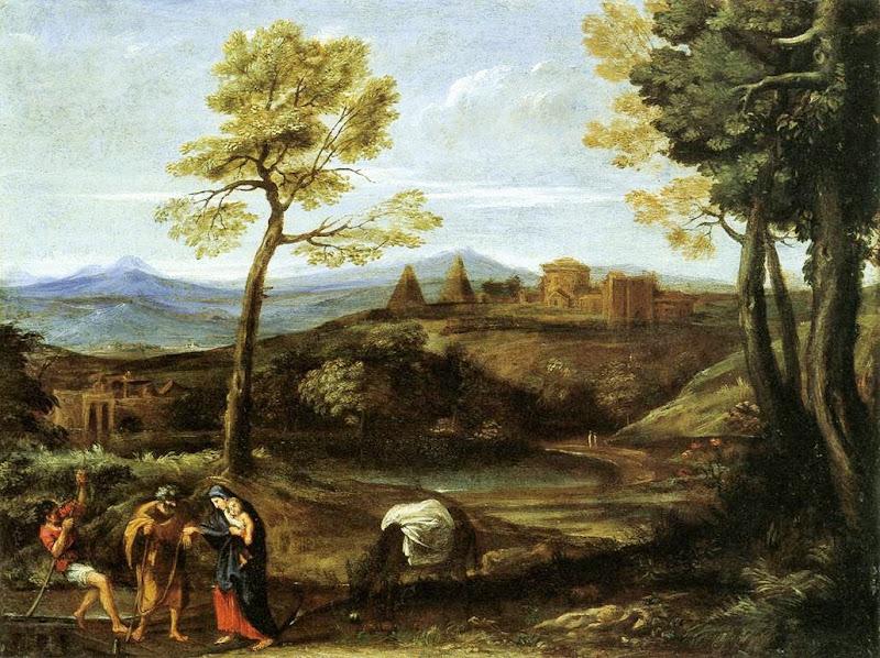 Domenichino - Landscape with the Flight into Egypt