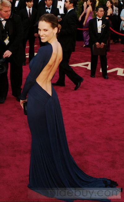 lang kjole med bar ryg