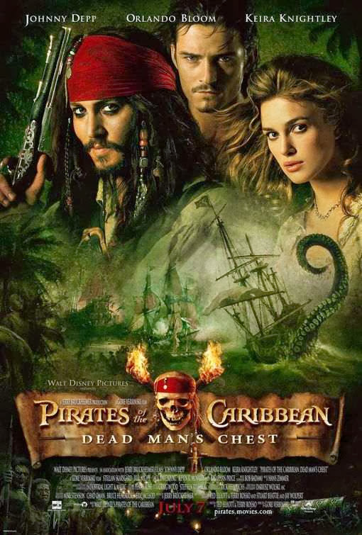 Poster Of Pirates of the Caribbean 2: Dead Man's.Chest (2006) Full Movie Hindi Dubbed Free Download Watch Online At Alldownloads4u.Com