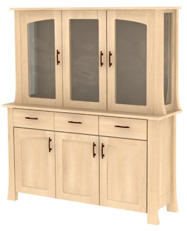 "84"" high x 68"" wide x 20"" deep Palermo China Cabinet in   Natural Maple"