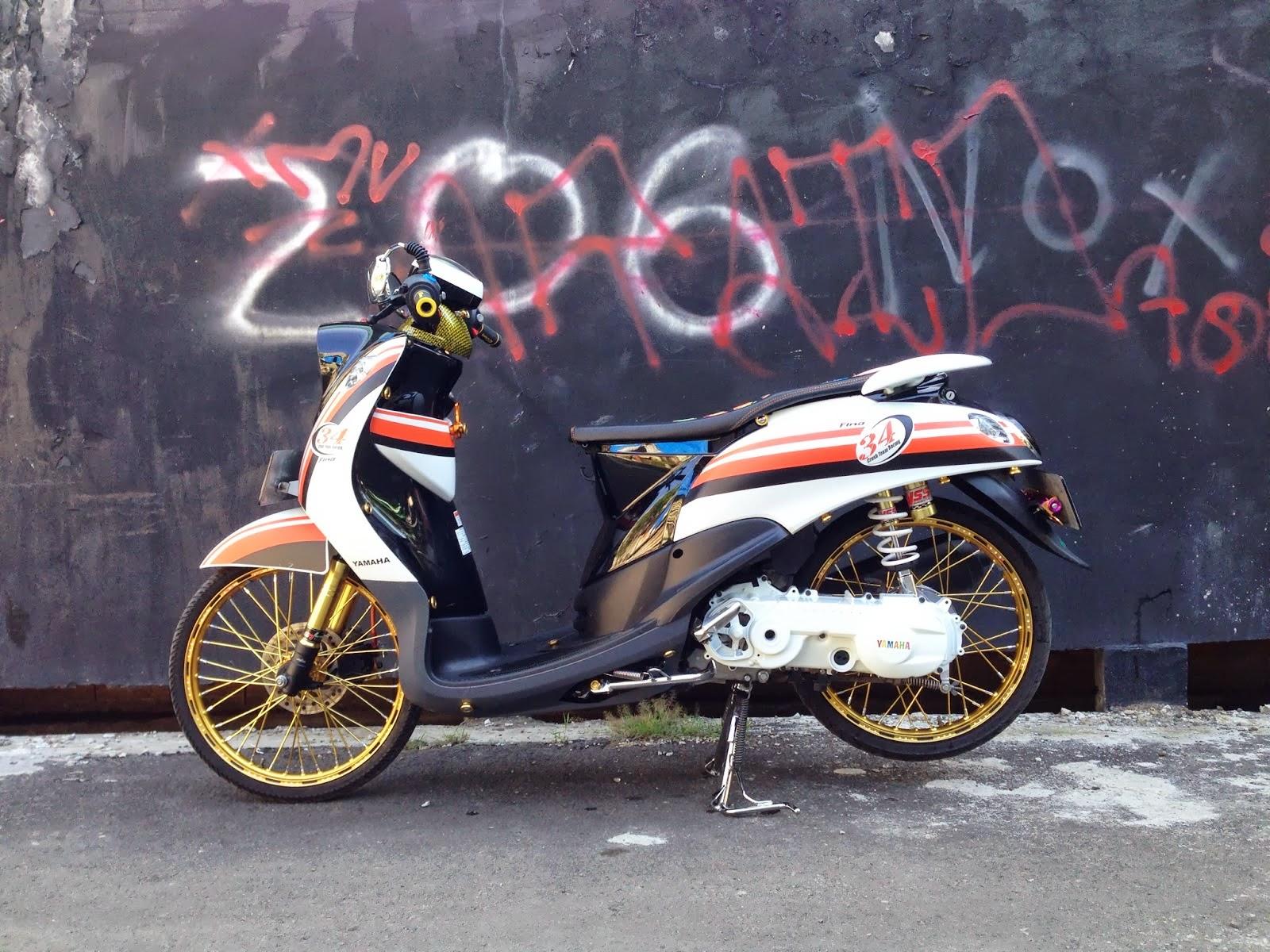 Modifikasi Yamaha Fino Velg 17
