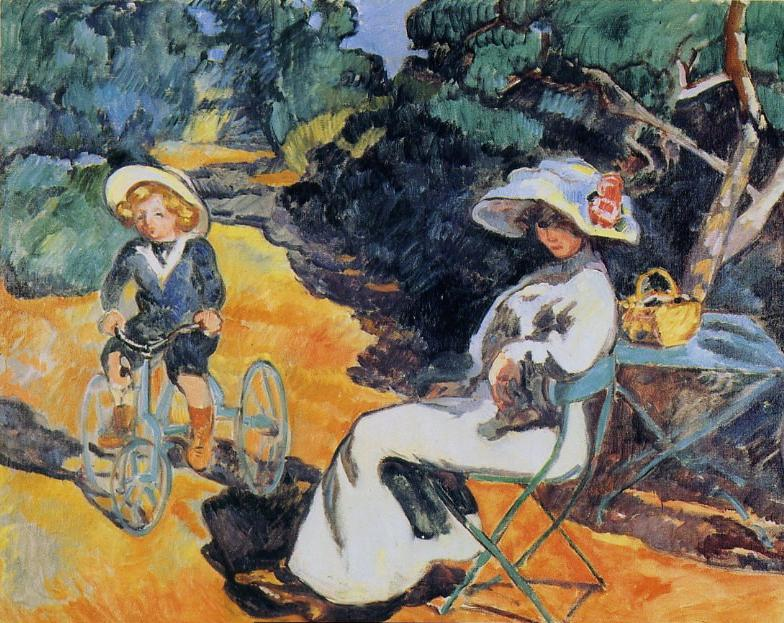 Louis Valtat - L'Enfant au tricycle
