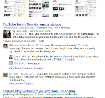 Google+ Actively Discussed