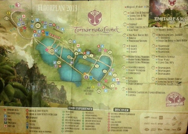 mapa tomorrowland