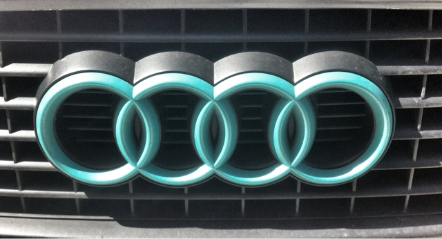 Add Color To Your Life Change The Color Of Your Audi Emblem The - Audi car emblem