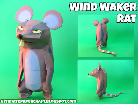 The Wind Waker Rat Papercraft