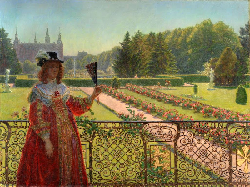 Kristian Zahrtmann - Leonora Christina in the garden of Frederiksborg Palace, 1887