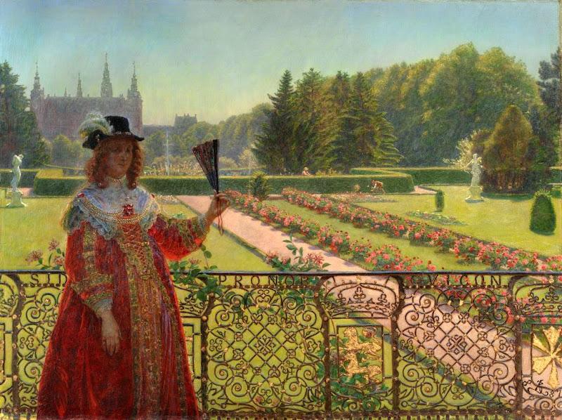 Kristian Zahrtmann - Leonora Christina in the garden of Frederiksborg Palace, 1887