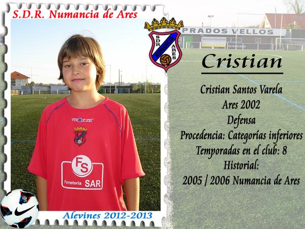 ADR Numancia de Ares. Cristian.