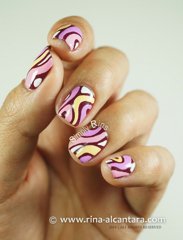 Disaligned Nail Art Design by Rina Alcantara