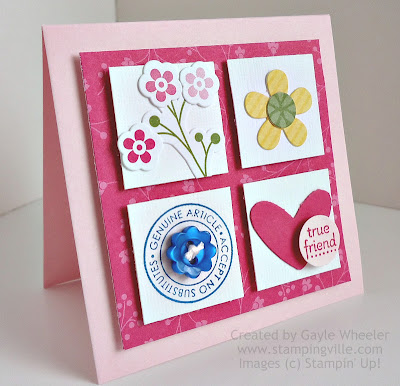 Mini card using Sale-a-bration products by Stampin' Up!