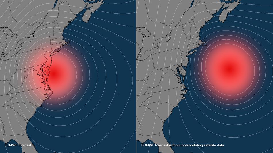 La clave del éxito en la previsión del ECMWF con el Huracán Sandy