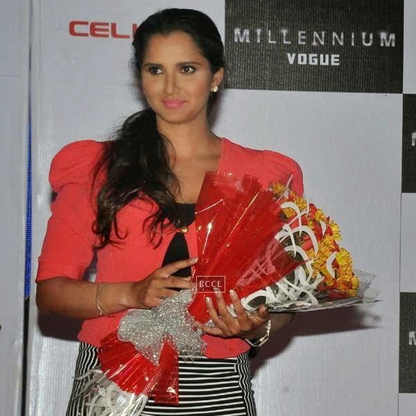 Sania Mirza during the launch of Celkon's Millennium Vogue Q455 in Mumbai, on July 25, 2014. (Pic: Viral Bhayani)
