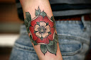 Tudor rose tattoo Designs 4