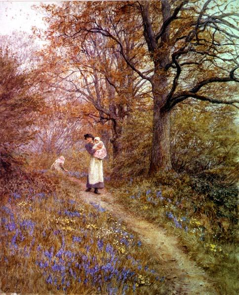 Helen Allingham - Bluebells