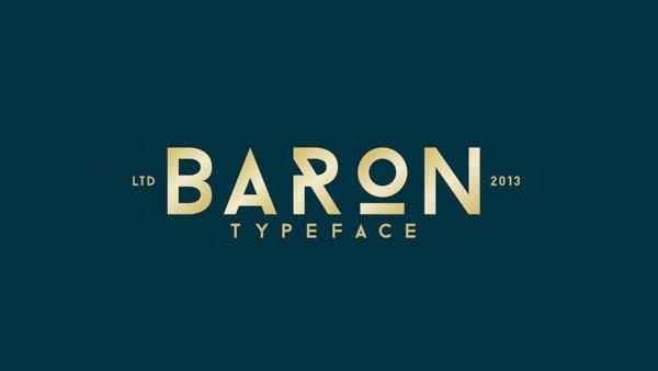 Free Font Baron
