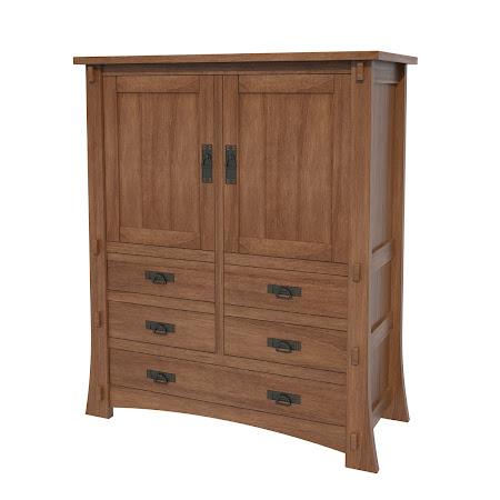 Seville Armoire Dresser in Royal Maple
