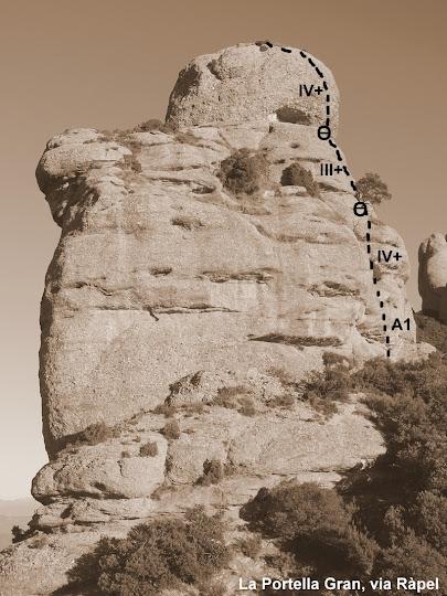 La Portella Gran, via Ràpel