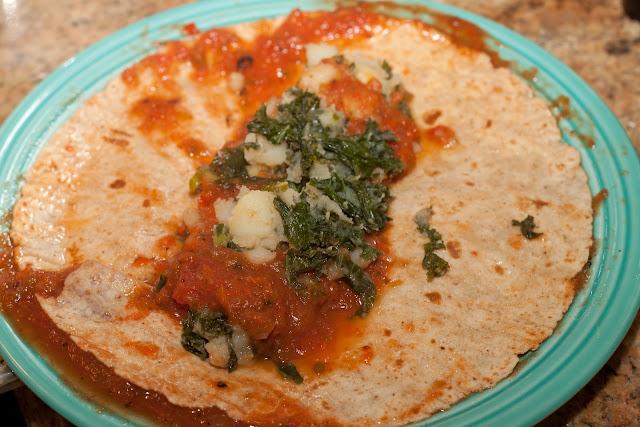 Potato Kale Enchiladas - 1