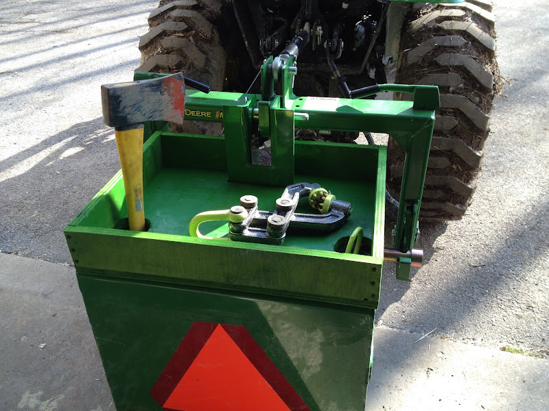 Tractor Ballast Box : Jd ballast box tool shelf mytractorforum the