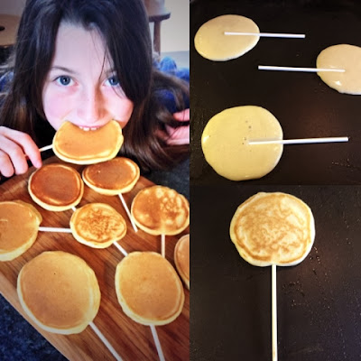 Pancake Pops. Shrove Tuesday.