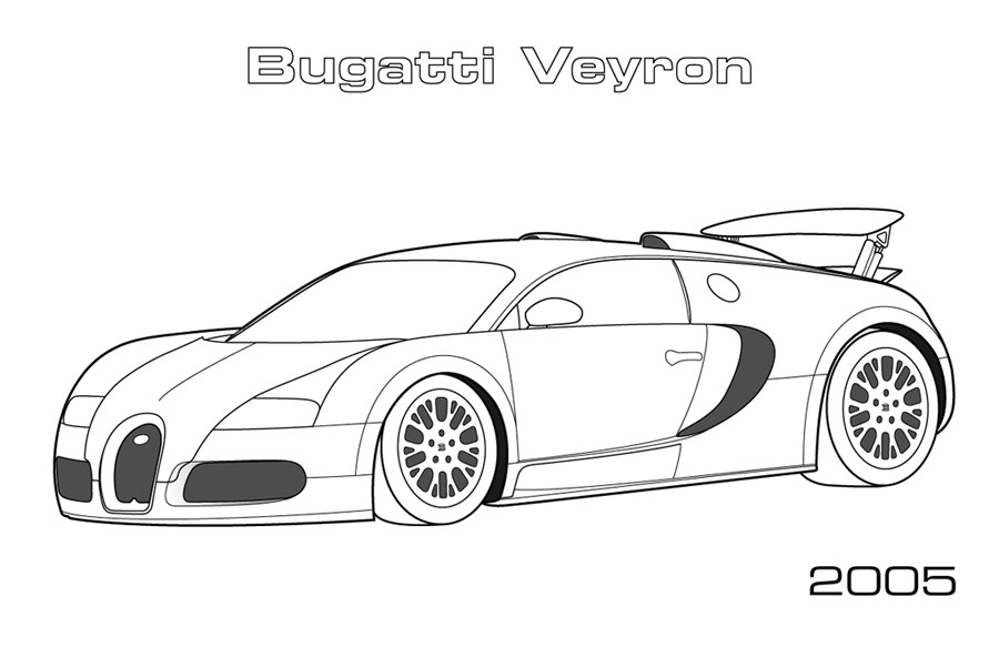 Road and Sports Cars  Car Coloring Pages