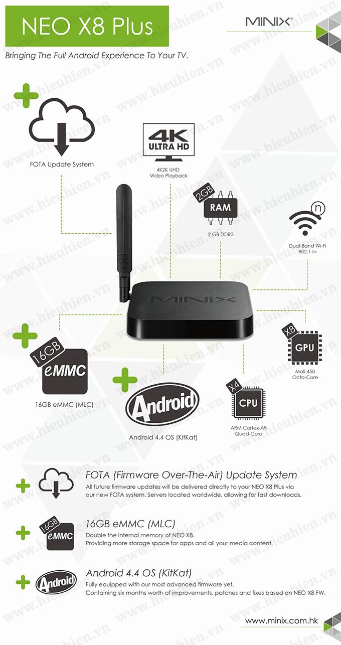 minix neo x8 h plus android tv box amlogic s812 h quad core 01 Features