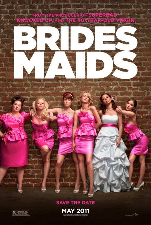 Poster Of Bridesmaids (2011) Full Movie Hindi Dubbed Free Download Watch Online At Alldownloads4u.Com