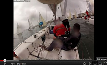 J/80 sailing training video off Santander, Spain