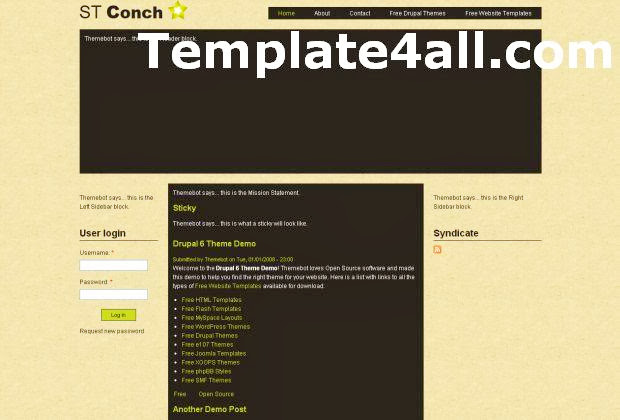 Free Brown Drupal 7 Theme Template