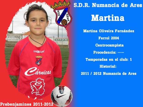 ADR Numancia de Ares. Prebenxamíns 2011-2012- MARTINA