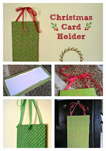 Christmas in July: Hanging DIY Christmas Card Holder #CIJ13
