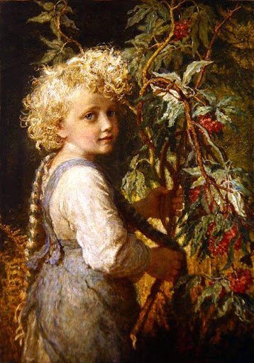 Karl Wilhelm Friedrich Bauerle - Gathering Red Berries