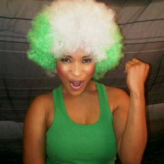 Nigerian Actress, Tonto Dike showing Patriotism