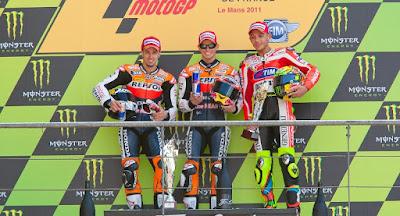 Le Mans MotoGP Podium 2012