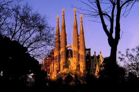 La Sagrada Familia, foto aérea