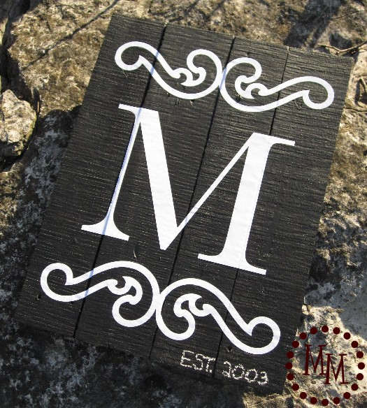 Monogram Wall Art guest post: monogram wall art from the scrap shoppe - erin spain
