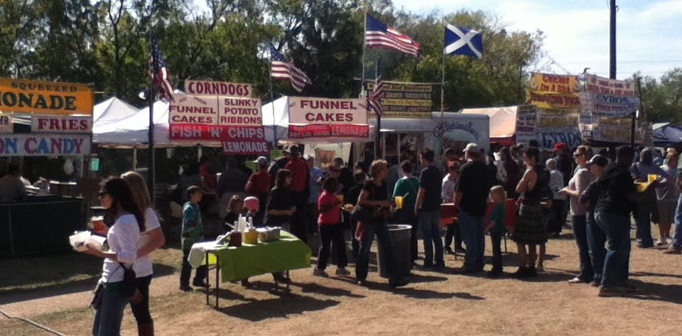 A portion of the food vendors.