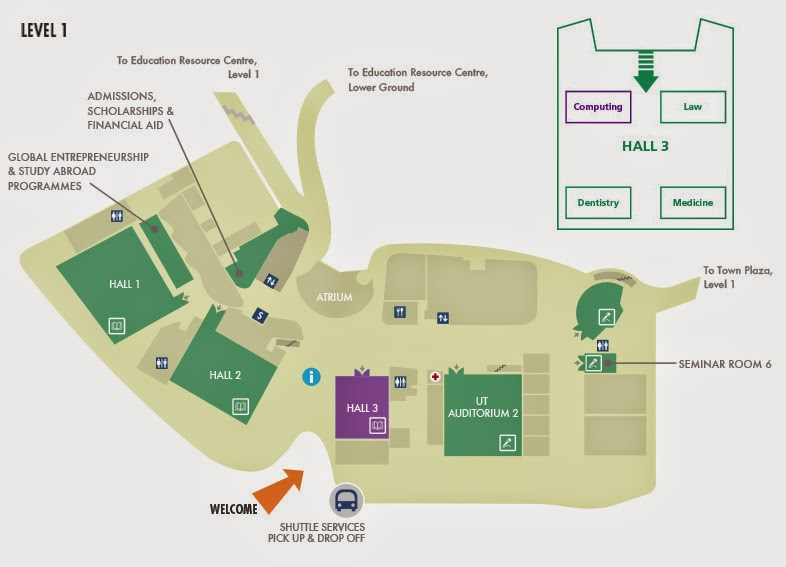 NUS Open Day map