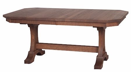 Eiffel Dining Table in Lexington Quarter Sawn Oak