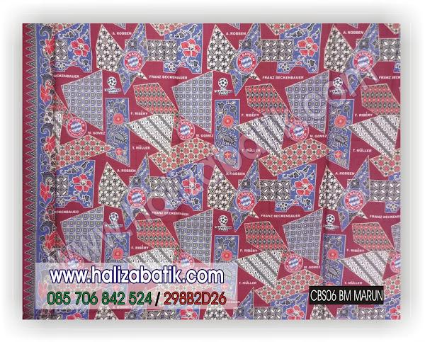 Batik Pekalongan, Kain Batik Modern, Gambar Batik, CBS06 BM Marun