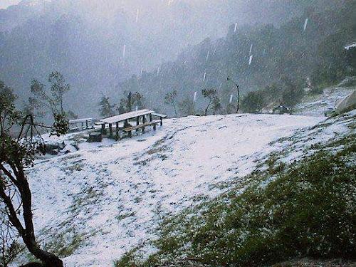 nieve en El Pital, El Salvador