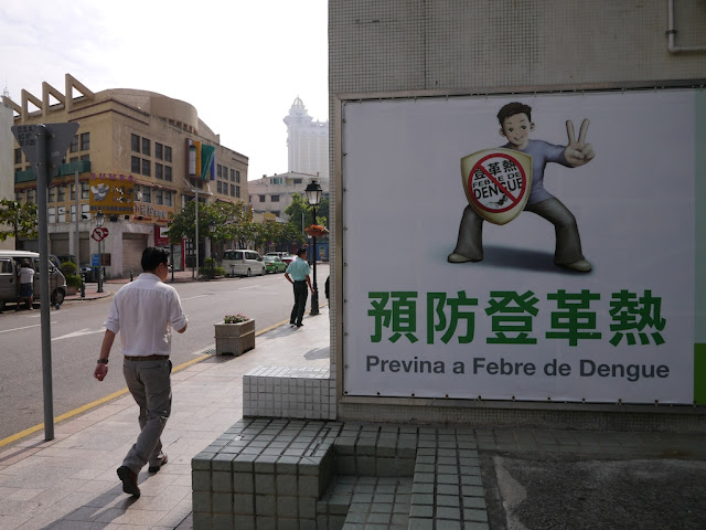 a sign urging people to prevent dengue fever