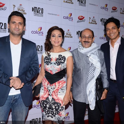 Bade Acche Lagte Hai family during the 12th Annual Indian Telly Awards, held in Mumbai.