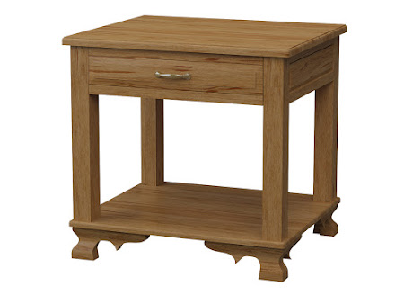 Prairie End Table in Calhoun Maple