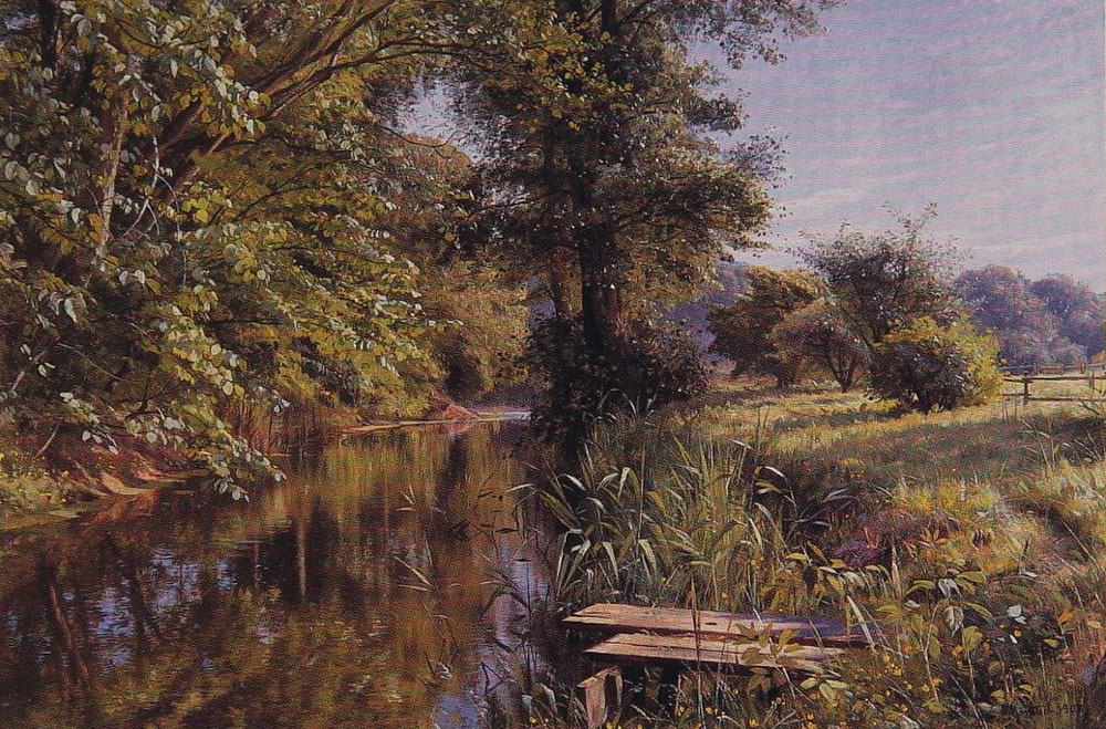 Peder Mork Monsted - Calm Waters, 1908