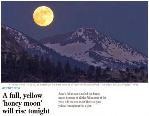 Tonight See The Honey Moon All Night Long