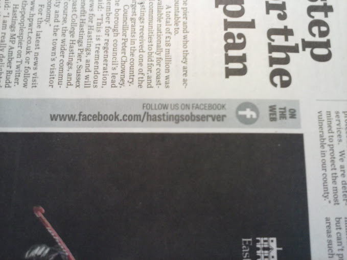 Advert 1, Social Media in Hastings Newspaper socical media Local Newspaper's Terrific Twitter Marketing  CAM00018