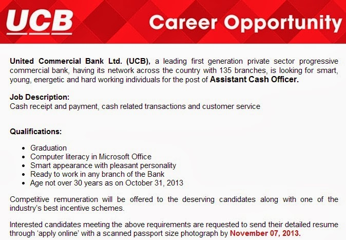 united commercial bank cash officer
